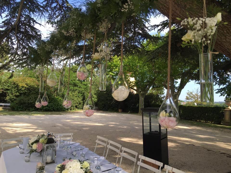 Décoration traiteur mariage Château d'Alphéran
